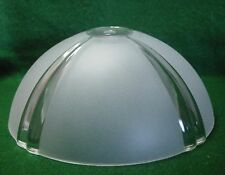 """DOME SHADE CENTER POST SATIN w/ RAISED CLEAR ACCENTS 3-1/2""""H 8-5/8""""ITS WIDEST"""