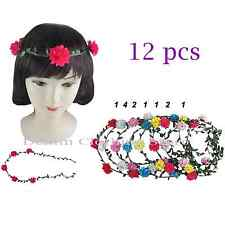12pc Boho Halo Flower Bridal Headband Hairband Crown Garland Wedding Prom Party