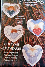 """Christmas Quilted ornament pattern Finders Keepers ANGEL 5"""" hearts applique"""