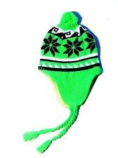 bonnet péruvien vert fluo enfant 3 4 5 ans hiver