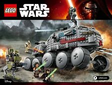 Lego star wars clone turbo tank at-rt walker battle broids figurines luminara nouveau