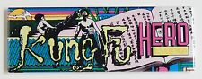 Kung Fu Hero Marquee FRIDGE MAGNET (1.5 x 4.5 inches) arcade video game header