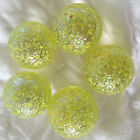 NEW 5 PUPPY 35mm YELLOW STUDDED GLASS MARBLES TRADITIONAL GAME COLLECTORS HOM