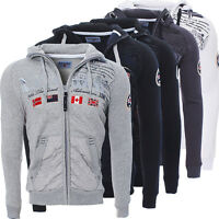 Geographical Norway Herren Golfstream Winter Sweat Jacke Pullover Polo Hoodie ✔