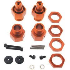 HPI Baja 5b SS * FRONT & REAR WHEEL HEX HUBS & NUTS * 24mm HD Orange Anodized