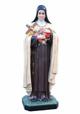 Saint Therese of Lisieux fiberglass statue cm. 160 with glass eyes