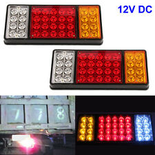2x LED Tail Trailer Lights Truck UTE Trailer Carvan Boat Waterproof 36-SMD 12V