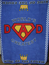 NEW WORLDS GREATEST DAD THROW FLEECE FATHER'S DAY COLORFUL UNIQUE SUPERDAD NISP