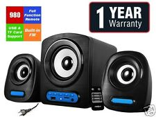 Frontech Jil-3938 2.1 Speaker with Woofer FM Ac powered With remote+USB TF port