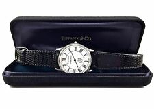 "New Tiffany & Co. Portfolio Watch Black Roman Numerals White Dial Unisex 9"" L"