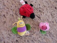 Baby Stuffed Animal Ring Attach Pendants Play Gym Pieces Lot of 3 GUC