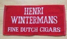 RARE COLLECTABLE AND HTF - HENRI WINTERMANS FINE DUTCH CIGARS - BAR / BEER TOWEL