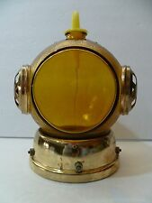 Vintage Musical Diver's Helmet Glass Liquor Decanter Bottle Plays O.SOLE MIO!