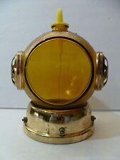Vintage Musical Diver's Helmet Glass Liquor Decanter Bottle Plays O.SOLE MIO!