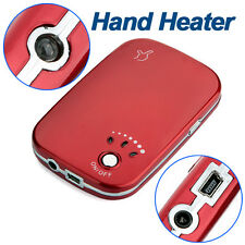 Handy Red Mini Electric Pocket Hand Warmer Heater with USB & Wall Charger
