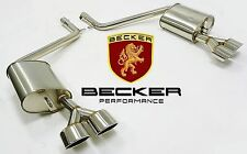 Becker Axle Back Exhaust FITS 2008 - 2013 Mercedes Benz C300 C350 W204 Chassis