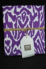 Pottery Barn Urban Ikat Organic Sheet Set Purple Lavendar Full