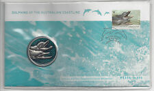 Australia FDC 2009  WWF Dolphins with Medallion PNC