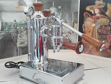 RARE Zacconi Riviera baby chrome WOOD luxury lever espresso machine 220V