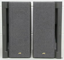 JVC Speakers SP-MX50BK Black Bookshelf Pair 50 Watts Stereo