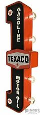 Texaco Double Sided Light Sign Vintage Style Gas Oil Garage Car Truck Service