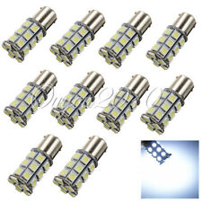 10x Pure White 1156 BA15S 27-SMD 5050 LED Tail Turn Signal Rear Light Bulb Lamp