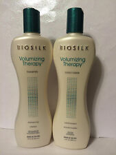 BIOSILK SILK THERAPY VOLUMIZING SHAMPOO & CONDITIONER SET 12oz