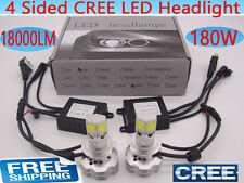 NEW CREE 180W 18000LM LED headlight bulb light lamp kit H1 H4 H7 H11 white 6000K