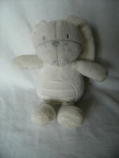 NEXT BUNNY RABBIT SOFT TOY COMFORTER WHITE GREY STRIPE 13""