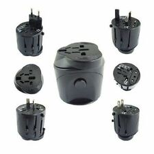 Black Universal Travel Plug Power Outlet Socket Adapter Converter US UK EU AU