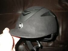 One K Defender Black Suede Jumping Eventing Dressage Show Helmet XS X Small EUC