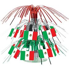 Mexican Flag Mini Cascade Centerpiece Party Accessory Fiesta FLAG Table Decor