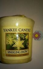 YANKEE CANDLE SPARKLING SNOW VOTIVE HUNDREDS LISTED RARE AND AWESOME