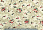 Covington Fabric Travistock Beige Rose Green Blue Floral Cotton Drapery