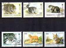 Animaux Félins Tadjikistan (53) série complète 6 timbres oblitérés