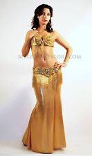 Professional Bellydance Belly Dance Bellydancing Gold Lycra Skirt 20050
