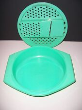 Tupperware Made In USA 2 Piece Shredder Grater Jadite Green