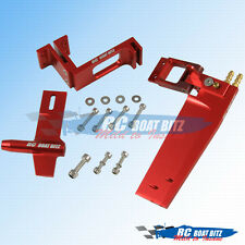 "Genesis RC boat upgrade rudder, 3/16"" strut, offset bracket kit RED"