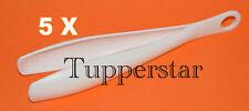 Tupperware Gadgets 5 Greiferle Zucker-Zange Weiss