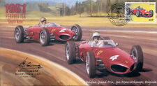 1961a FERRARI 156 (Shark Nose), SPA-FRANCORCHAMPS F1 cover signed KEITH GREENE
