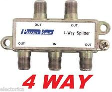 4 WAY DIGITAL SPLITTER HD DTV READY CABLE TV 4WAY ANTENNA ROGERS SIGNAL 4WAY