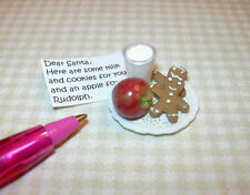 Miniature Milk/Cookies for Santa, Excellent! DOLLHOUSE Christmas Miniatures 1/12