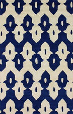 nuLOOM Palazzo 100% Wool Hand-Tufted Area Rug in Royal Blue design 5 x 8'