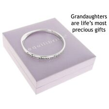 GRANDAUGHTERS ARE LIFES MOST PRECIOUS GIFT SILVER PLATED BANGLE GIFT BOXBRACELET