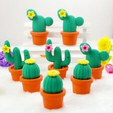 Funny Cactus Rubber Pencil Eraser Novelty Students Kids Stationery Gift Toy Hot