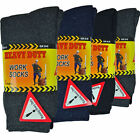 12 Pairs Mens Ultimate Work Socks Boot Safety Sock Size 6-11 Cushion Sole