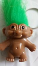 GREEN LUCKY TROLL DOLL KEYRING/ PENCIL TOPPER NEW