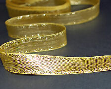 *** DELICATE GOLD - XMAS -  Ribbon - 15mm Wide ***