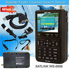 2016 Latest SATlink WS-6906 LCD Digital Satellite Signal Finder Meter DVB-S FTA