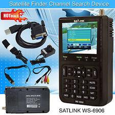 Más reciente 2016 Satlink WS-6906 Medidor de buscador de señal de satélite digital LCD DVB-S FTA